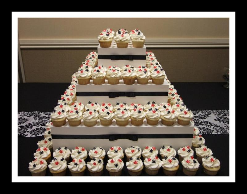 you with the matching color ribbon to accent your wedding cupcakes